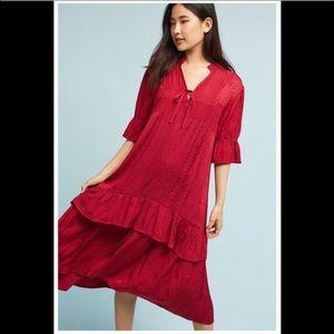 ‼️Anthropologie Jacquard Ruffled Dress Small‼️